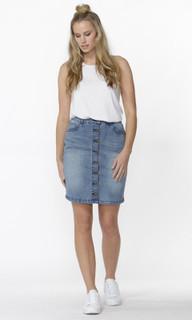 Women's Skirts Australia | Seb Button Down Denim Skirt | SASS
