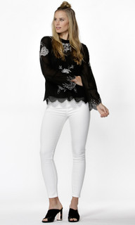 Ladies Tops Online | Odalia Embroidered Blouse | SASS