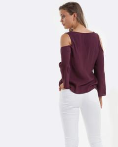 Women's Tops | Luna Cut out shoulder Top | AMELIUS