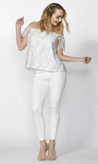 Ladies Tops   Clemence Corded Lace Top  SASS