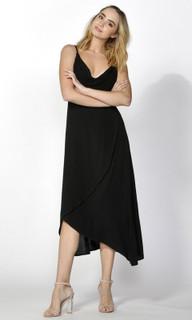 Women's Dresses   Salena Cowl Cross Over Dress   SASS