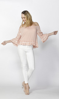 Women's Tops Online | Ailsa Boho Embroidered Blouse | SASS