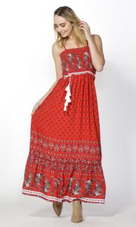 Ladies Dresses | Desert Floral Shirred Maxi | SASS