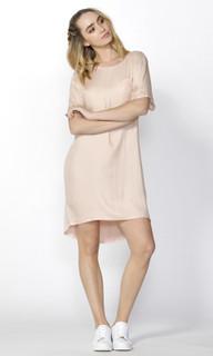 Ladies Dresses Online | Jace Woven Front Tee Dress | SASS