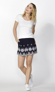 Women's Pants Online | Isobel Embroidered Hem Shorts | SASS