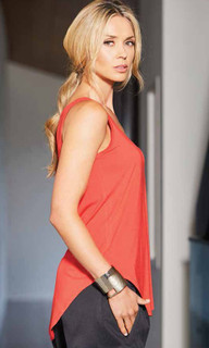 Ladies' Tops Australia | Scoop Hem Tank | Carbon 12