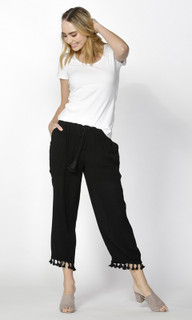 Ladies Pants | Tyson Tassle Hem Pants | SASS