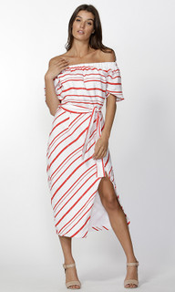 Ladies Dresses | Adah Stripe Dress | FATE + BECKER