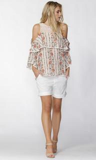Women's Tops Online | Roseella Cold Shoulder Blouse | FATE + BECKER