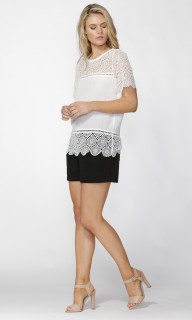 Ladies Tops | Emmery Lace Top | FATE + BECKER