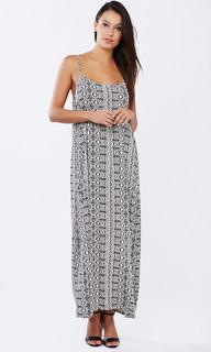 Ladies Dresses | Aztec Maxi Dress | PIZZUTO