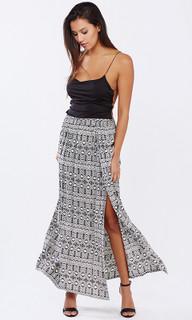 Ladies Skirts | Aztec Split Skirt | PIZZUTO