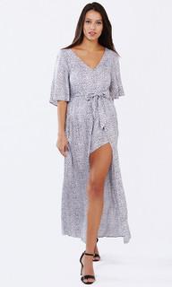 Women's Dresses Online | Safari Grey Maxi Jumpsuit | PIZZUTO