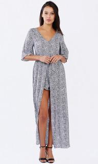 Women's Dresses Online | Safari Black Maxi Jumpsuit | PIZZUTO