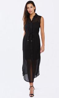 Ladies' Dresses Australia | Bircardi Burn Out Drawstring Maxi | PIZZUTO