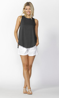 Ladies Tops Online | Rhys Lace Up Tank | SASS