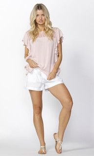 Womens Tops Online | Marlow Ruffle Sleeve Top | SASS