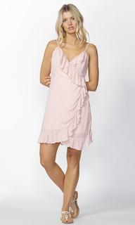Womens Dresses Online | Birdie Ruffle Wrap Dress in Pink | SASS