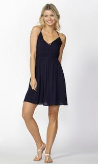 Womens Dresses Online | Huxley Strap Detail Sundress in Navy | SASS