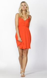 Ladies Dresses Online | Huxley Strap Detail Sundress in Passion | SASS