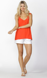 Ladies Tops Online | Gisele Tie Strap Cami in Passion | SASS