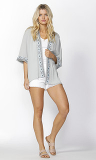 Womens Outerwear Online | Ivie Embroidered Kimono | SASS