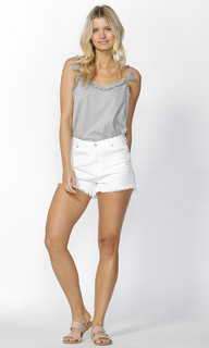 Ladies Shorts Online | Anja Slashed Denim Shorts | SASS