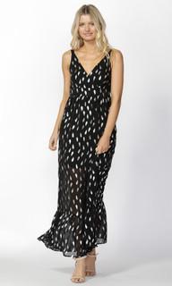 Women's Dresses | Feather Foil Maxi Dress | SASS