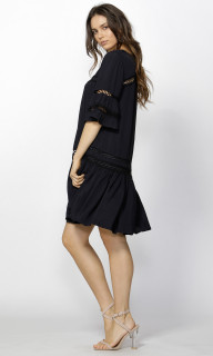 Women's Dresses | Kira Lattice Detail Dress | FATE + BECKER