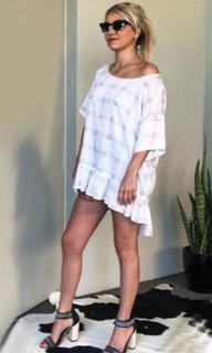 Women's Tops | KL372 Dress in Grey | KIIK LUXE