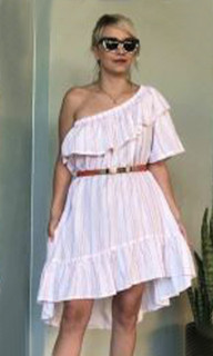 Ladies Dresses   KL373 Dress in Blush   KIIK LUXE