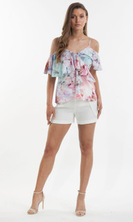 Women's Tops | Orchid Bloom Ruffle Cami | AMELIUS
