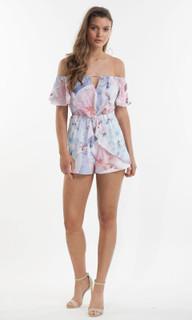 Ladies Playsuits | Orchid Bloom Playsuit | AMELIUS
