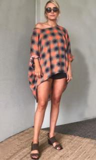 Ladies Dresses Online | KL379 Tee Dress in Orange | KIIK LUXE