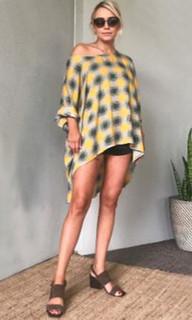 Ladies Dresses Online | KL379 Tee Dress in Yellow | KIIK LUXE