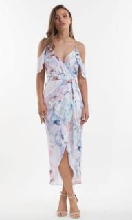 Women's Dresses | Orchid Bloom Wrap Maxi | AMELIUS