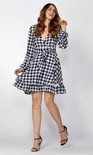 Women's Dresses | Ricki Check Flutter Dress | SASS