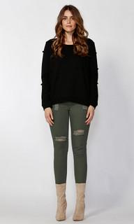 Ladies Tops | Ariela Pom Pom Sweater | SASS