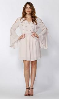 Ladies Dresses Online | Olivier Tie Bell Sleeve Dress | SASS
