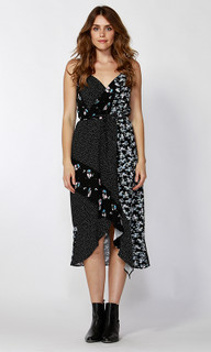 Women's Dresses | Spliced Floral Wrap Dress | SASS