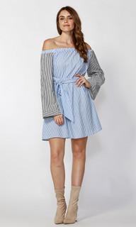 Women's Dresses Online | Indi Tie Waist Bell Sleeve Dress | SASS