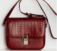 Shop Til You Drop - Red Faux Croc Bag