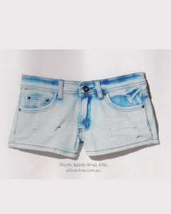 Shop October P123 - Zoe Denim Shorts