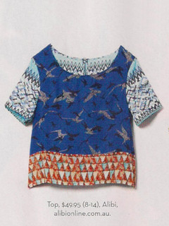 Women's Tops,Shop November P134 - Batik Bird Print Top,Alibi