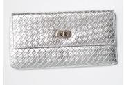 Who 26 October - Silver Woven Clutch