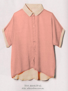Women's tops online,Shop December P126 - Two Tone Shirt