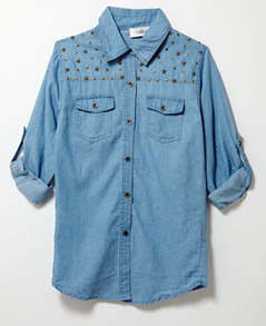 Shop January P122 -  Studded Denim Shirt