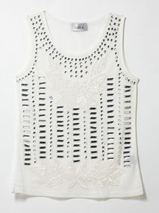 Women's Tops Online,Shop January  -  White Crystal Beaded Cami,Alibi