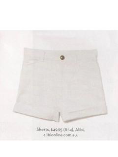 Shop Jan P132 - White Denim Shorts
