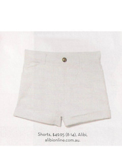 Shop Jan P132 - White Denim Shorts